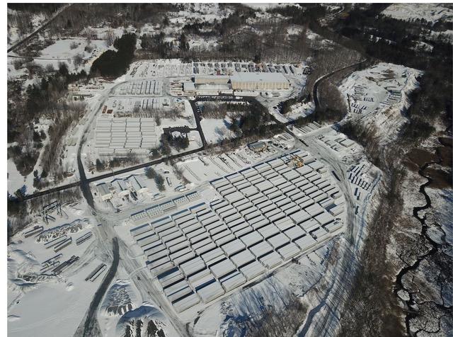 Precast storage yard at Dailey Precast